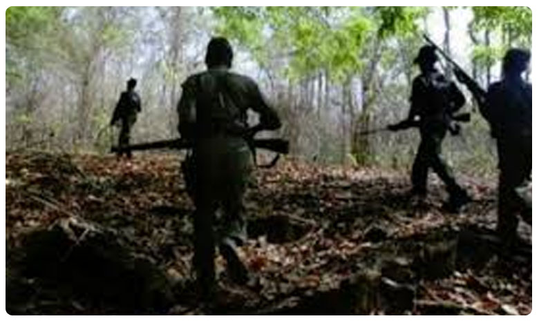 Exchange of fire between Maoist and Police in Telangana, భద్రాద్రిలో మావోయిస్టులకు, పోలీసులకు మధ్య ఎదురుకాల్పులు