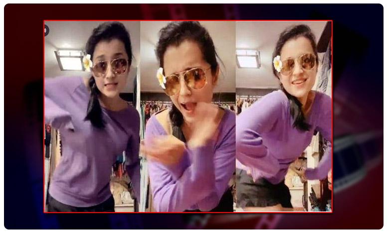 TRENDING: Trisha's Super HOT Tik Tok Debut - Hotness Overloaded, టిక్టాక్ ఎంట్రీ… క్యూట్ క్యూట్ స్టెప్పులతో ఫిదా చేసిన త్రిష..