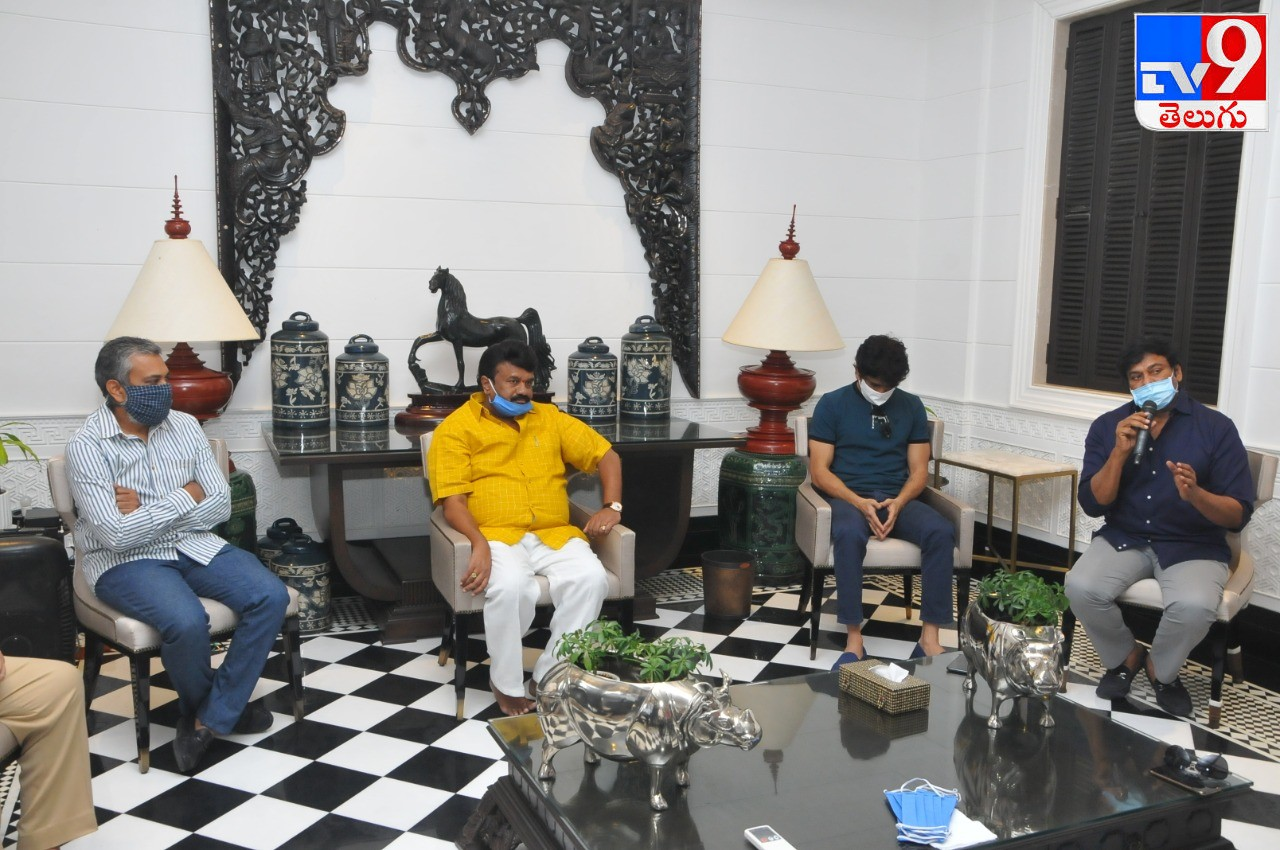 Cinema Autography Minster Talasani Srinivas Yadhav, సినీ ప్రముఖుల భేటీలో మంత్రి తలసాని శ్రీనివాస్యాదవ్