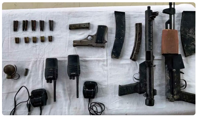 Manipur: A joint team of Assam Rifles and the police recovered a cache of arms and ammunition, అసోంలో భారీగా పట్టుబడ్డ ఆయుధాలు