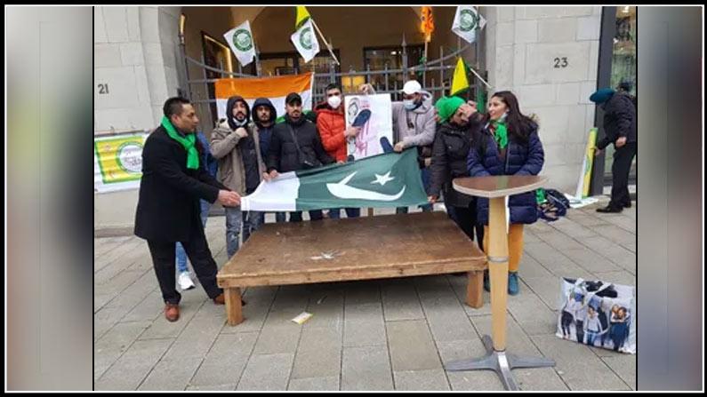 pakistan flag unfurled in germany, germany, bjp leader suresh nakhua, indian overseas congress, bjp, tweet, ioc germany, president pramod kumar,