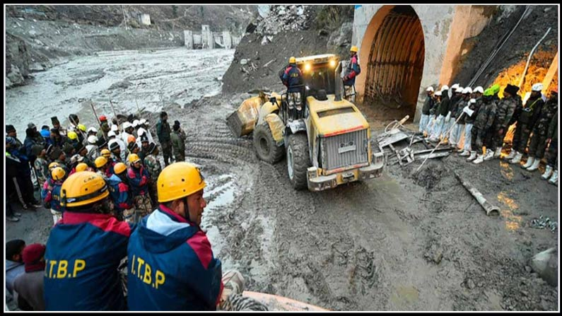 uttarakhand rescue teams cut through to side tunnel, uttarakhand, chamoli dist, rescue teams, tunnel, drill, 34 trapped