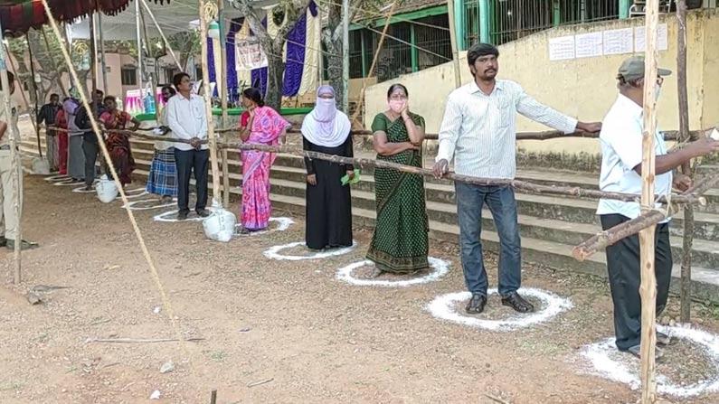 04 17 AP Municipal Elections 2021 Live: Puraporuku Sarvasiddham .. Polling started in AP .. Bars are full of voters - AP Municipal Elections 2021 voting live updates andhra pradesh municipal corporation election voting poll latest news in telugu