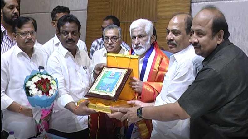 vijaya sai kamma samme Kamma Community: Vijayasai Reddy reveals that the government is not against anyone at the Kamma Community Spiritual Assembly - YSRCP MP Vijayasai reddy attends Kamma community meeting in Visakhapatnam