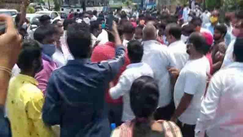 Khammam Trs, Congress Fight
