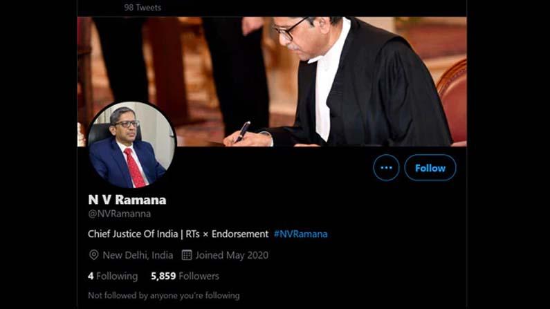 Nv Ramana Fake Twitter Account